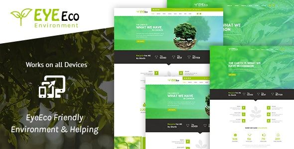 EyeEco Friendly Environmental Nature Html Template - Nonprofit Site Templates