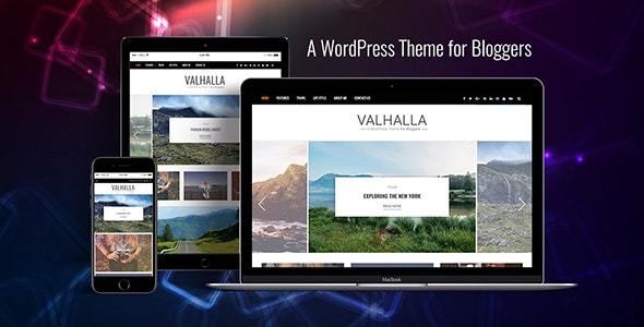 Valhalla - A Responsive WordPress Blog Theme - Personal Blog / Magazine