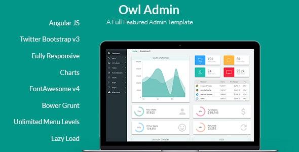 Owl Admin - Responsive Angular Admin Dashboard Template - Admin Templates Site Templates