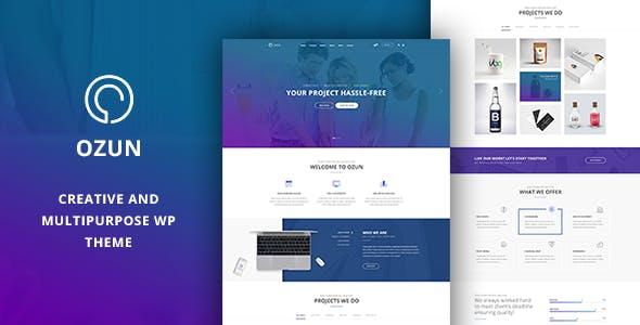OZUN - Creative and Multipurpose WP Theme