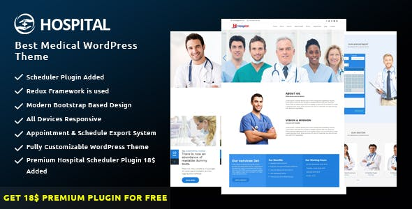 Hospital Management System Website Templates from ThemeForest