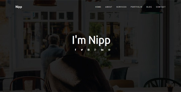Nipp - Personal Portfolio Landing Template - Portfolio Creative