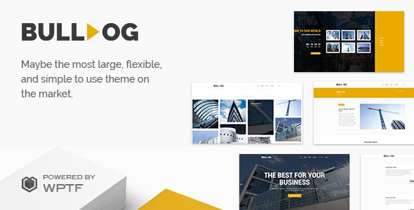 Bulldog - Construction Theme - Business Corporate