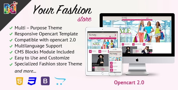 Fashion Store Responsive - OpenCart Template - Fashion OpenCart