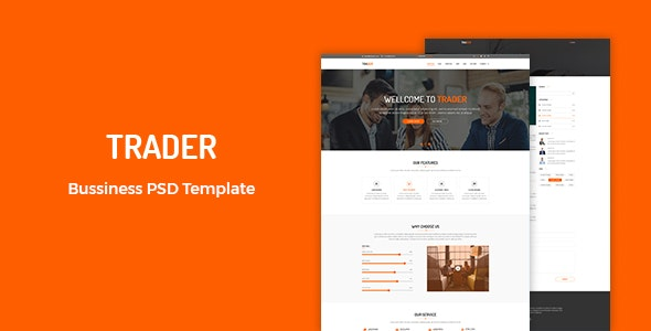 Trader - Business PSD Template - Business Corporate