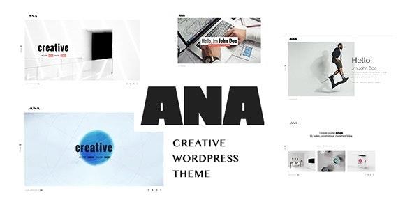 Ana - Creative Portfolio WordPress Theme - Portfolio Creative