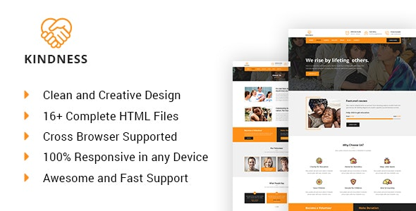 Kindness - Charity, Donation & Nonprofit HTML5 Template - Charity Nonprofit