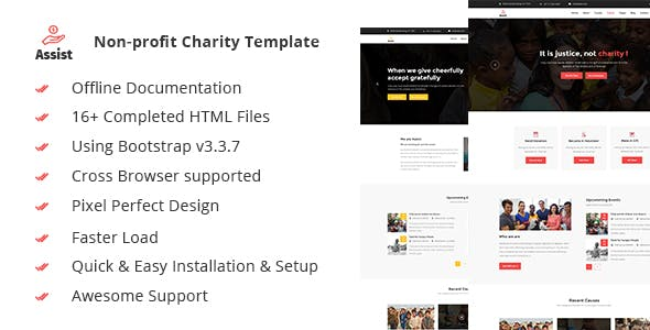Assist- Charity, Donation & Nonprofit HTML5 Template