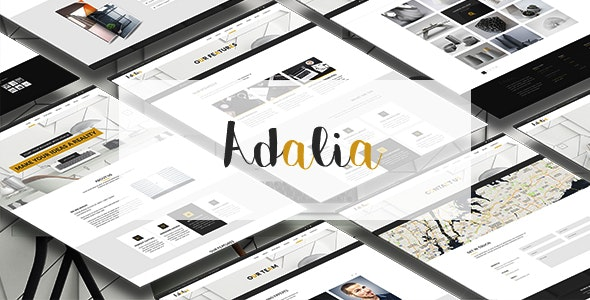 Adalia - Multi & One Pages Modern PSD Template - Corporate Photoshop