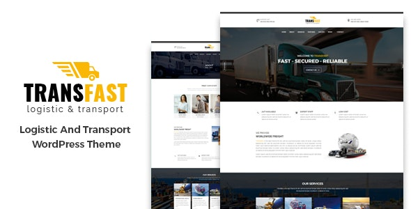 Transfast - Logistic and Transport - WordPress Theme - Business Corporate