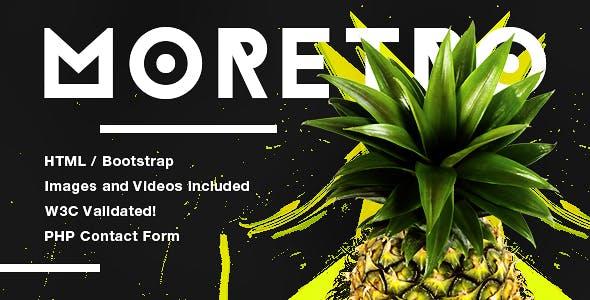 moretro - Modern Retro Template for Creative Agencies