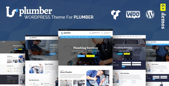 Plumber Pro - WordPress Theme for Construction & Repairing Services - Corporate WordPress