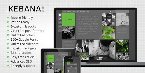 Ikebana - Masonry WordPress Portfolio Theme