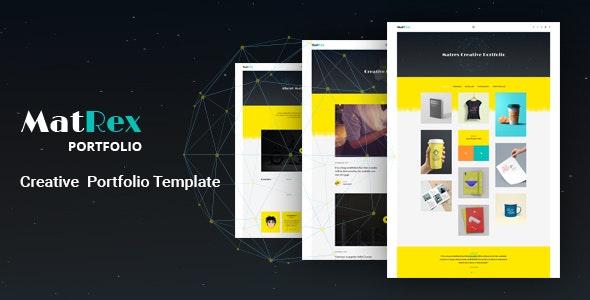 MatRex Creative Portfolio Template - Portfolio Creative