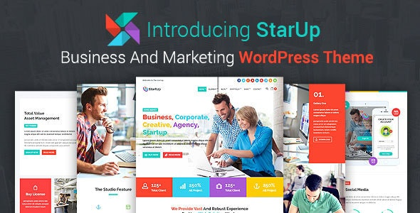 StarUp - Business And Marketing WordPress Theme - Business Corporate