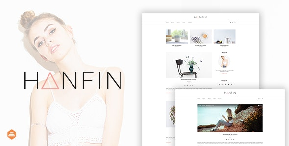 Hanfin - Personal & Clean Blog Template - Personal Site Templates