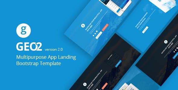 GEO - Responsive Multipurpose Bootstrap 3 App Landing Page Template