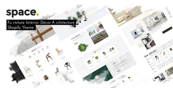 Space - Minimal Furniture Interior Decor Architecture Shopify Theme