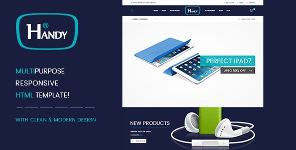 Handy Shop | Premium Multi - E commerce HTML5 Templates - Retail Site Templates