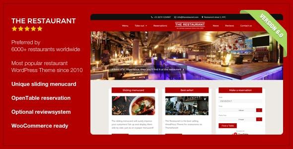 Restaurant WordPress Themes From Themeforest