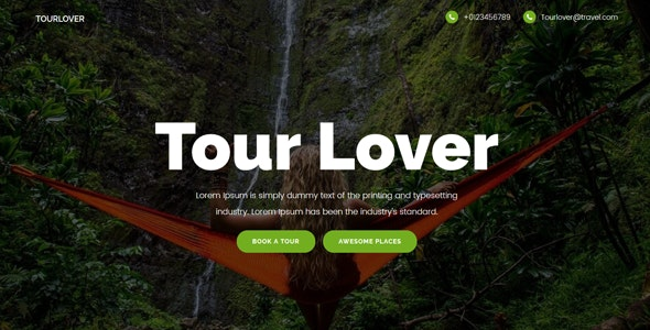 Tourlover - Travel agency landing page Template - Technology Site Templates