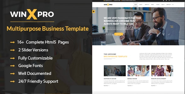 WinXpro - Responsive Multipurpose Business Template - Business Corporate