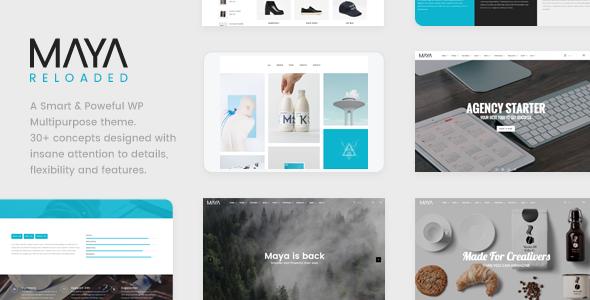 Maya - Smart and Powerful WP Theme - Creative WordPress