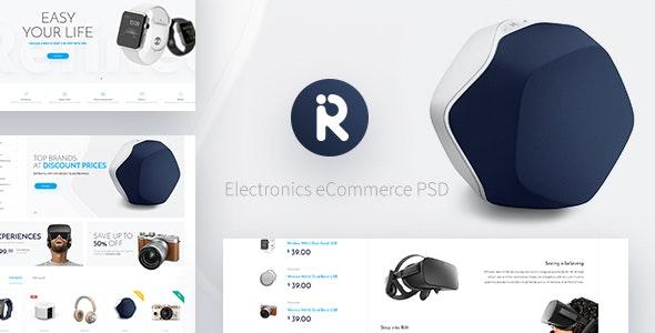 Refined - Electronics eCommerce PSD - Retail Photoshop