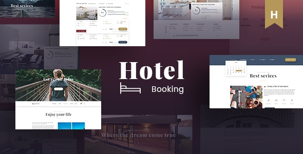 Hotel Booking - Travel Hotel Booking PSD Template - Travel Retail