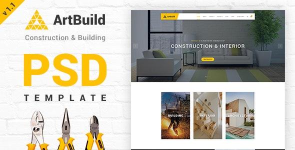 ARTBUILD | Construction & Building PSD - Corporate Photoshop