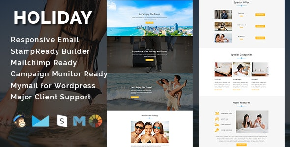 HOLIDAY - Responsive Email Template - Email Templates Marketing
