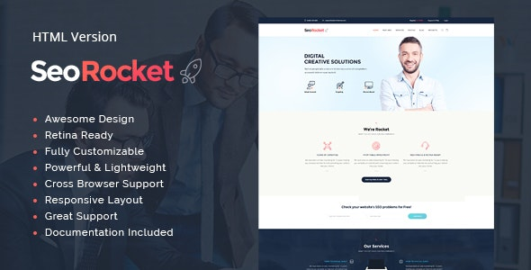 Seo Rocket | Advertising & Marketing Site Template - Marketing Corporate