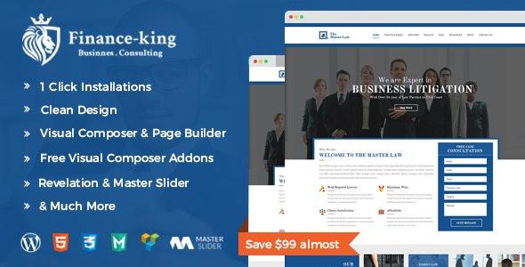 Financial King Corporate WordPress Theme - Finance WP - Business Corporate
