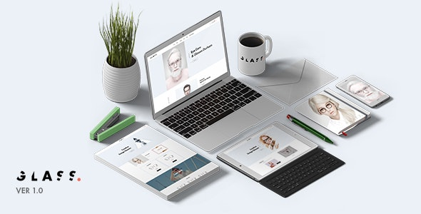 Glasses Store  Ecommerce PSD Template - Photoshop UI Templates