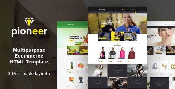 Pioneer - Responsive Multipurpose E-Commerce HTML5 Template - Retail Site Templates