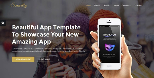 Smartly - App Landing Page - Software Technology