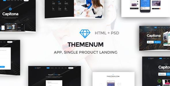 Themenum - App Landing Page & Showcase Responsive HTML Template