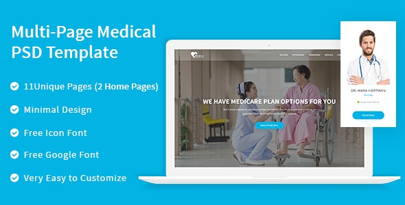 Medico - Multipage Medical PSD Template - Health & Beauty Retail