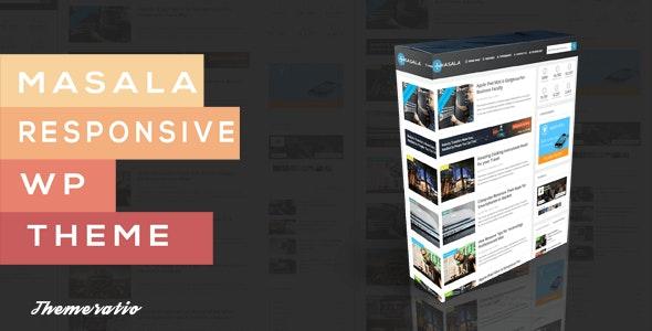 Masala - A Responsive WordPress Blog Theme - Personal Blog / Magazine