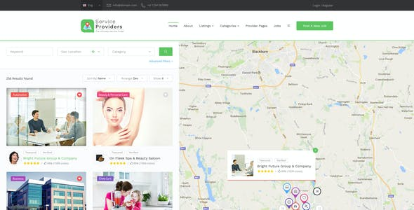 Service Providers - Directory Template