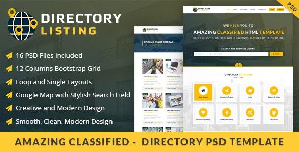 Viavi Directory Listing PSD Template - Miscellaneous Photoshop