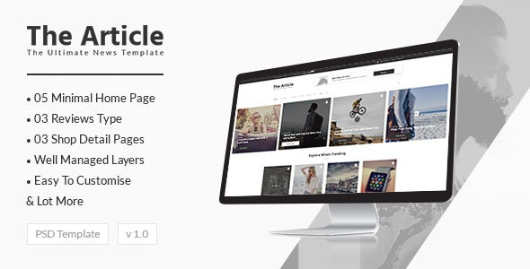 The Article - News PSD Template - Marketing Corporate