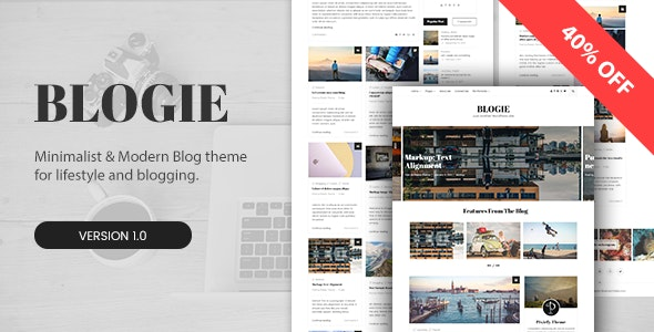 Blogie - Minimalist WordPress Blog theme - Personal Blog / Magazine