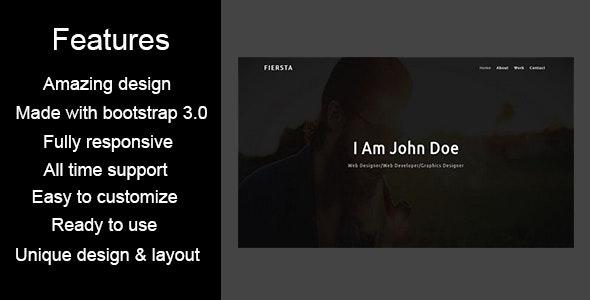 FIERSTA-Personal / Portfolio HTML5 Template - Personal Site Templates