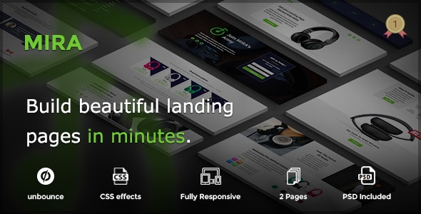 MIRA - Marketing Multipurpose Unbounce Landing Page - Unbounce Landing Pages Marketing