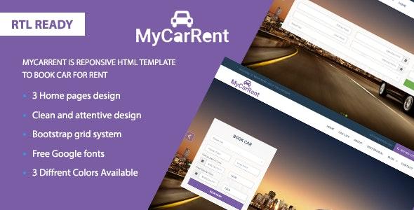 MyCarRental - Car Rental Lading Page Responsive - Business Corporate
