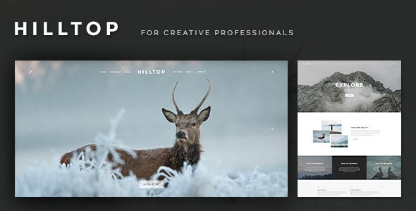 Hilltop - PSD Template for Creative Professionals - Creative Photoshop