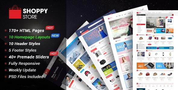 ShoppyStore - Multipurpose eCommerce HTML5 Template - Retail Site Templates
