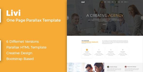 Livi-One Page Parallax Template - Creative Site Templates
