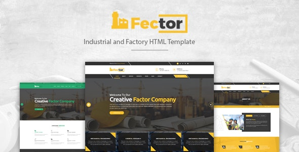 Fector - Factory & Industrial Business HTML Template - Corporate Site Templates